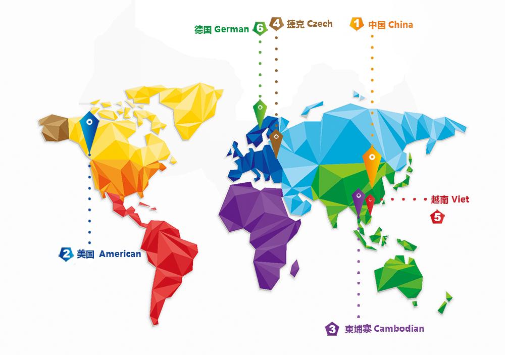 全球服务分布地点